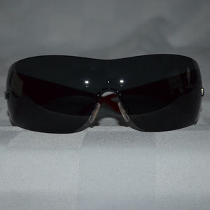 2e2fbc50c14 New Versace 2054 Black Red Shield Sunglasses